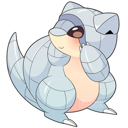 ChibiDex: #027 Alolan Sandshrew by SeviYummy