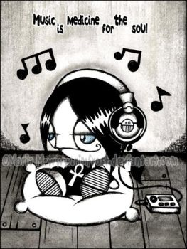 Music is medicine for the soul by Rimfrost