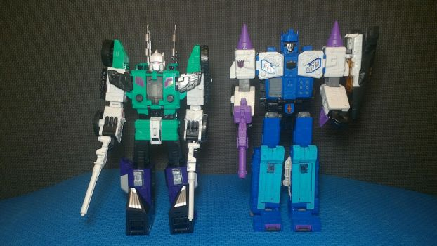 Sixshot and Overlord by wmpyr