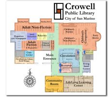 Crowell Library floor plan by FlyingKnight