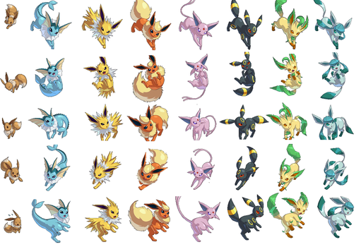 Pokemon Conquest sprites! by EeveeProtect