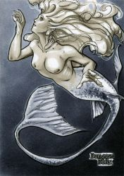 Mermaid Dungeon Dolls Sketch Card by RichardCox