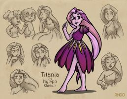 Titania Character Expression Sheet (Redesign) by Draw-out-loud