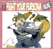 Fight Your Fursona Meme by Hobbes-Maxwell