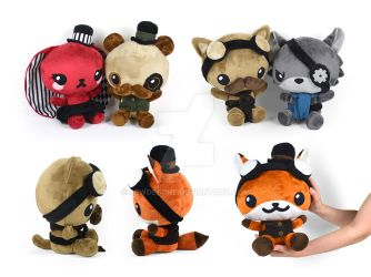 Steampunk Chibi Plushies by SewDesuNe