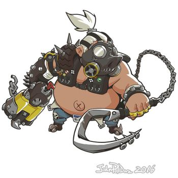 Cute But Deadly Roadhog by NorseChowder