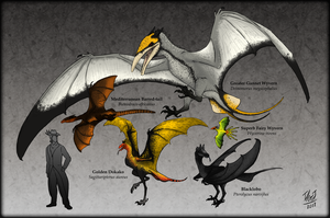 Ornithotarsia : Wyverns of The World by TheJuras