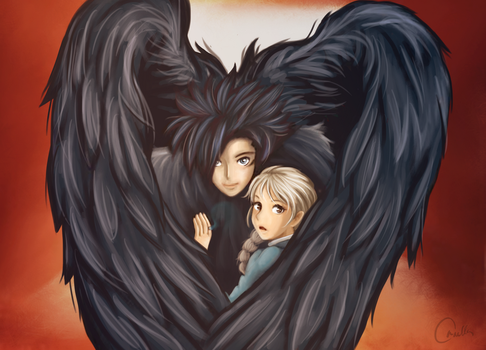 Howl's Moving Castle. Howl and Sopfie by OrnellaDallarth
