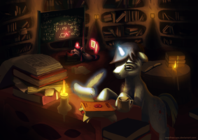 A Typical Night of a Researcher (Commission) by FiddleArts