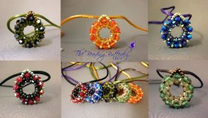 Geode Ring Pendant Necklaces Collage by beadg1rl