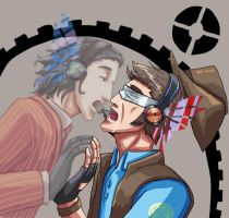 TF2 Gabry and Liam,magnet2. by seueneneye