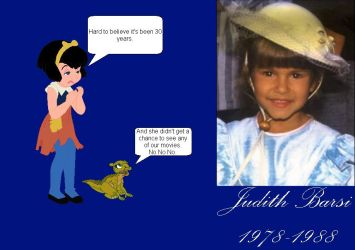 Remembering Judith Barsi by mrentertainment
