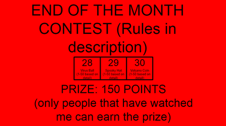 END OF THE MONTH CONTEST (SEPTEMBER) by TheNewBGGAMING