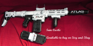 COD Atlas nerf gun artic camo by Sam-Castle