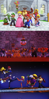 Mario and Crash Bash 2 by NinjawsGaiden