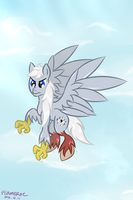 [request]The soaring Grey Cloud by FlameRat-YehLon