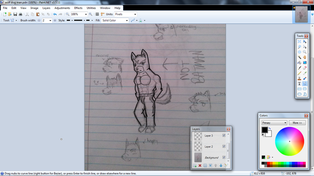 DOG WUFF MAN DRAWING SKETCH THING by NintendoSteven