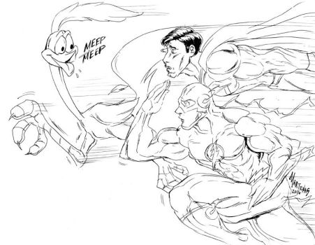 The Flash and Superman usurped by a LooneyToon! by martenas