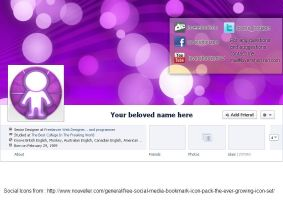 Facebook Timeline Cover - XCF,PDN,PSD Template by LoversHorizon