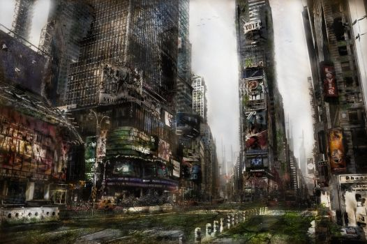Apocalyptic Times Square by Hax09