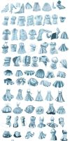 Practise Folds and Clothing *Huge file* by MyC-chan