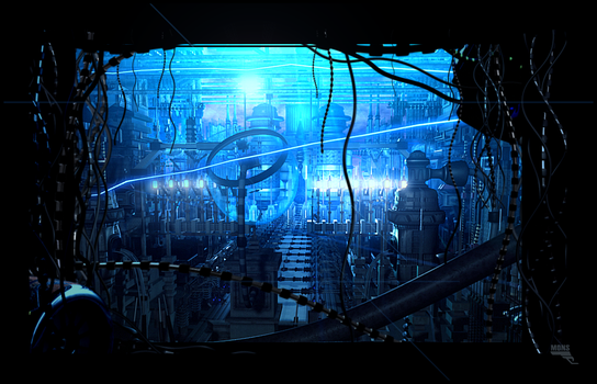 Blue Machine city by MarcMons007