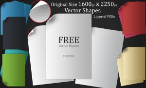 Free vector paper set by m-biz