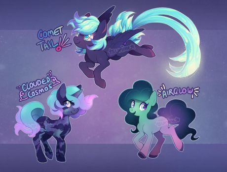 MLP adoptable auction - space ponies! (CLOSED) by tsurime