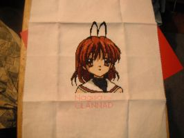 Nagisa from CLANNAD cross stitch by dottypurrs