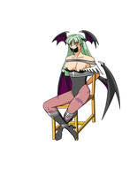 Morrigan Taped in a Chair by Ztunner