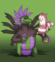 Hydreigon and Furret
