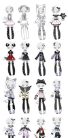 +Outfit Adoptable Mix 41 [CLOSED] + by Hunibi