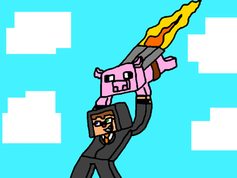 Chimney and Pilot Pig by EddieBearMC