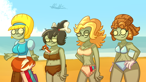 PvZ - BIKINI SEASON by LWB-the-FluffyMystic