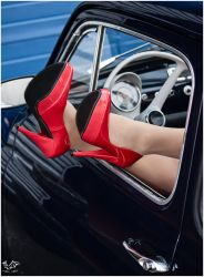 FIAT 500 AND THE RED SHOES by SisMisBoy