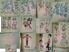 Animaniacs sketch dump by 17cherry