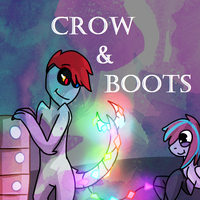 Gravity falls style .:Crow And Boots:. by PuddingzWolf