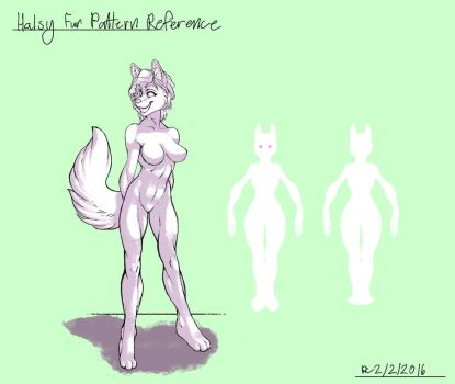 Halsy Fur Pattern Reference by FlyingRam