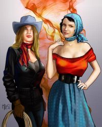 Ladies of The Ranch - Ginger and Dale by knottysilkscarf