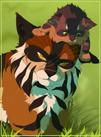 Tigerclaw and Bramblekit by TobyKitten