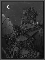 Haunted house by Tangledwires