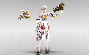 [MMD-ELS-100 watchers gift] Eve Code Empress DL! by Darknessmagician