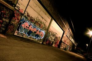 Light painting and graffitis by KajiyaEol