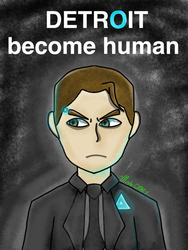 Detroit Become Human Connor by TheRealCrazyFazbear