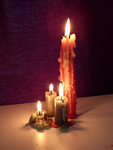 Four Glowing Candles by DarkenedHeart-Stock