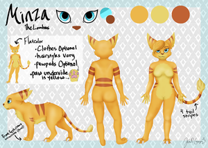 Commission: Minza The Lombax by ChocolateQuill