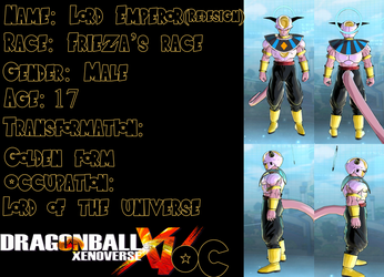 DBZ/Xenoverse OC: Lord Emperor(Redesign) by Evil-Black-Sparx-77