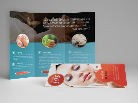 Beauty Trifold Brochure by KahunaDesign
