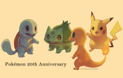 Pokemon 20th Anniversary by zerudez