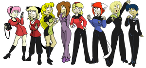 Star Trek Uniforms by CDRudd